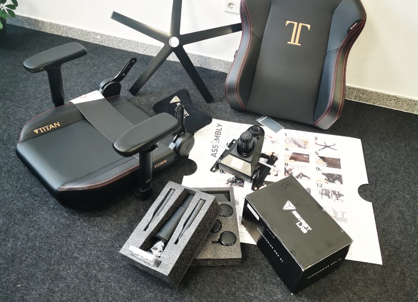 Structure of a gaming chair