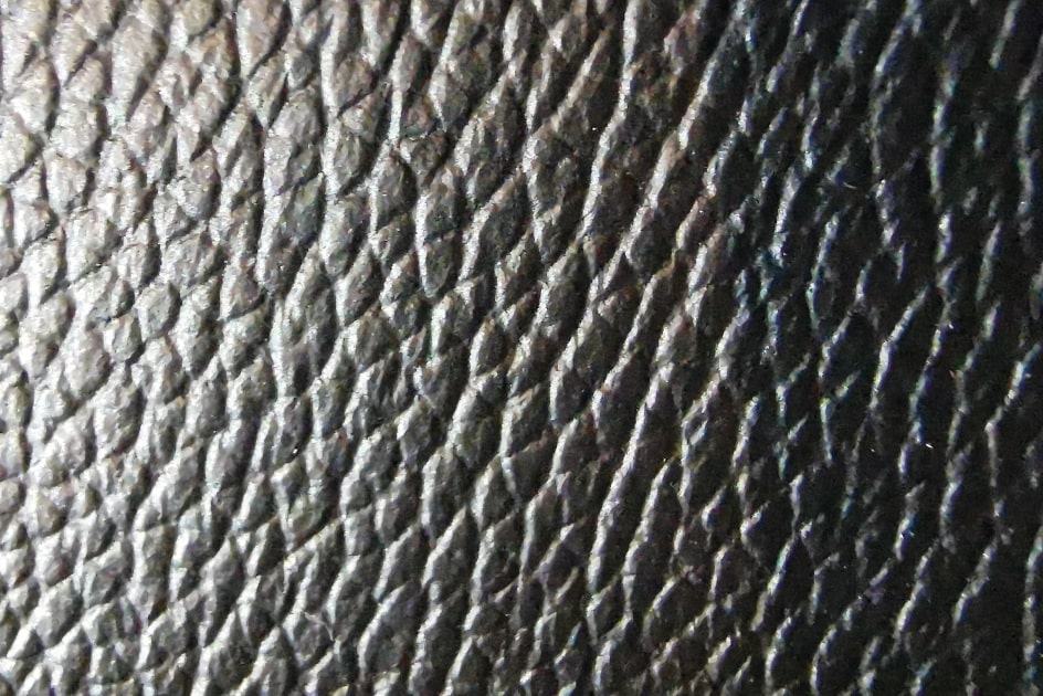 genuine leather cover close-up