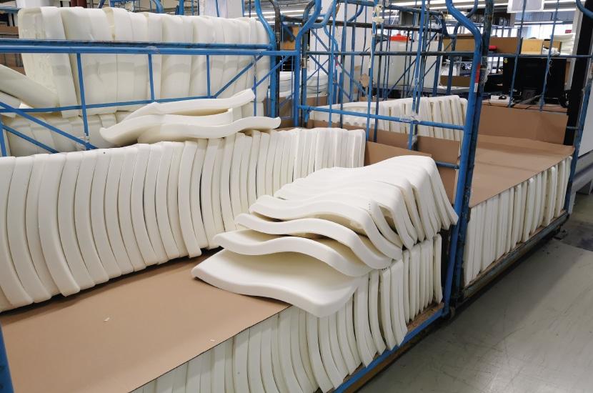intermediate storage-foam-production