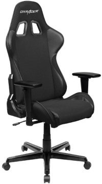 Video game chair in black color.